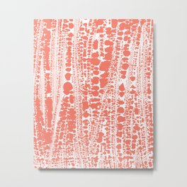 Coral Splash Ocean Bath Metal Print