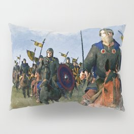Medieval Army in Battle Pillow Sham
