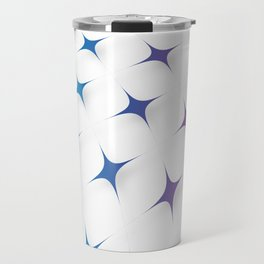 BLUE AND PURPLE STARS Abstract Art Travel Mug