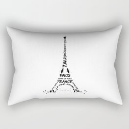 Digital-Art Eiffel Tower Rectangular Pillow