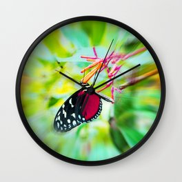 Butterfly in summer Wall Clock