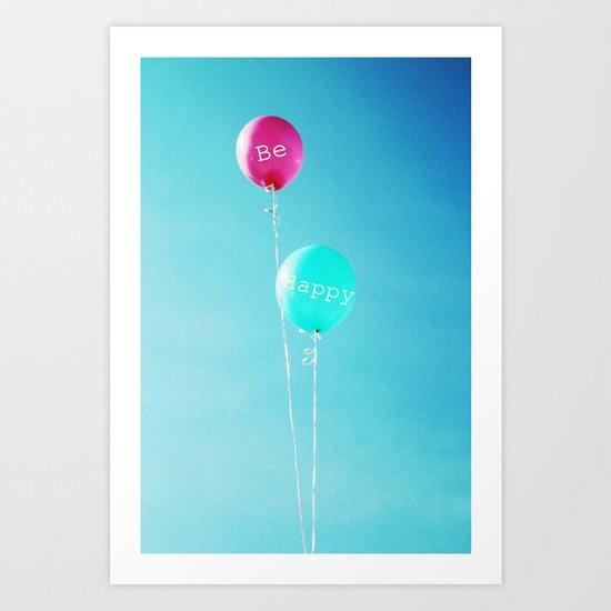 Happy Balloons Art Print