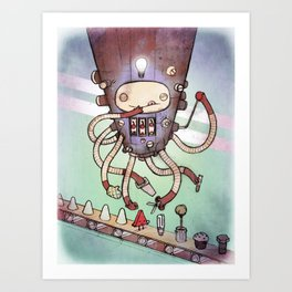Self Made Robot Art Print