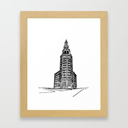 the Electric Tower Framed Art Print