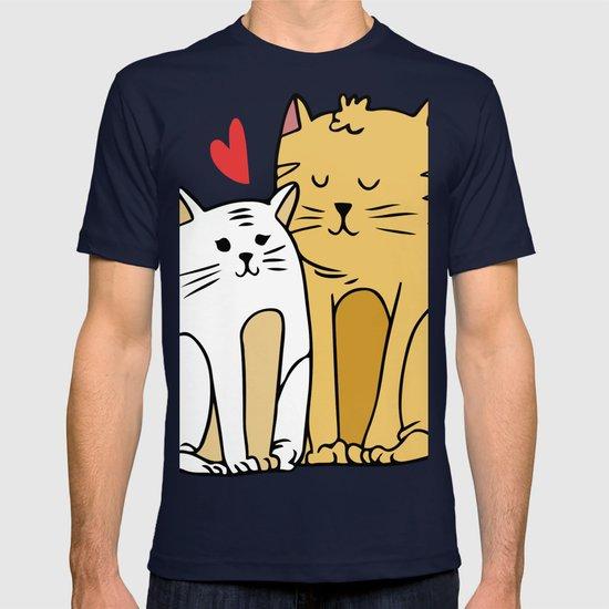 9bf59d23 Cartoon Cat Family T-shirt by allenan-store   Society6