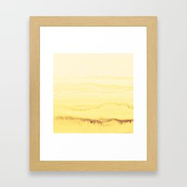 WITHIN THE TIDES - SUNNY YELLOW Framed Art Print