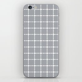 Dotted Grid Grey iPhone Skin