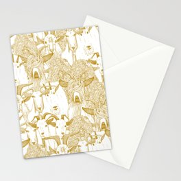 just goats gold Stationery Cards