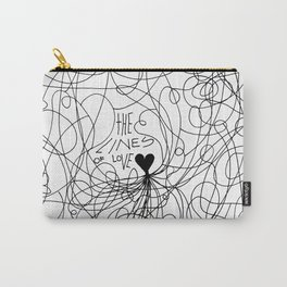 The lines of Love - White version. Carry-All Pouch