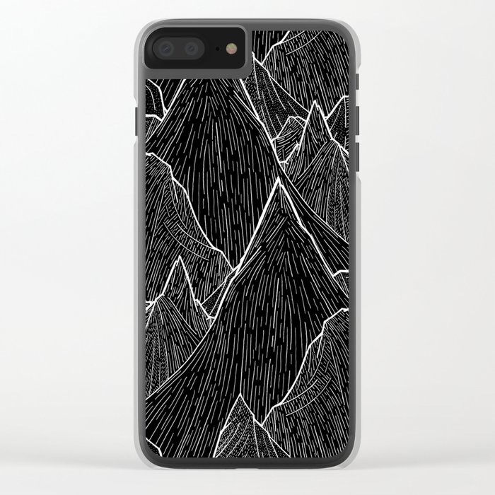 The Dark Peaks Clear iPhone Case