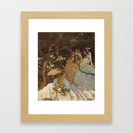 Monet- Women in the Garden, nature,Claude Monet,impressionist,post-impressionism,painting Framed Art Print