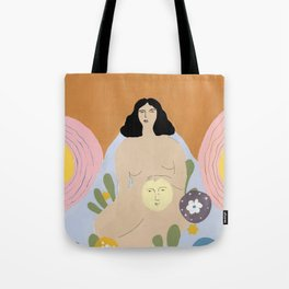 Taking care of the moon Tote Bag