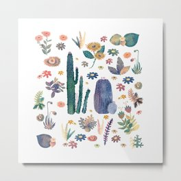 cactus king and Queen of the nature!! Metal Print