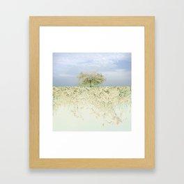 landscape 004c: 藍の空 (indigo sky) Framed Art Print