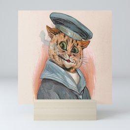 Sailor Cat - Louis Wain Cats Mini Art Print