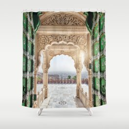 Jaswant Thada memorial in Rajasthan, India Shower Curtain