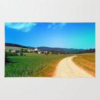 hiking Area & Throw Rugs featuring Another lonely hiking trail by Patrick Jobst