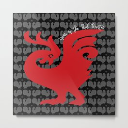 Year of the Red Rooster Metal Print