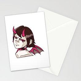 Anime Demon Girl Stationery Cards