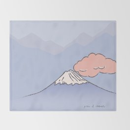 Mountain and cloud Throw Blanket