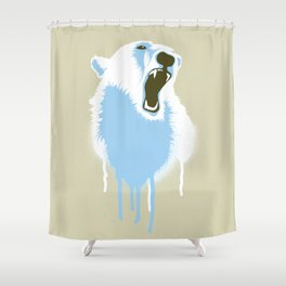 Polar Bear Head Shower Curtain