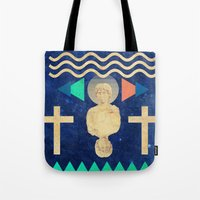 hercules Tote Bags featuring HERCULES by Diego Ascoli
