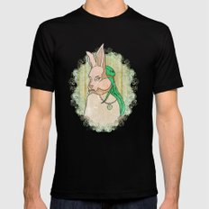 Follow the White Rabbit MEDIUM Black Mens Fitted Tee