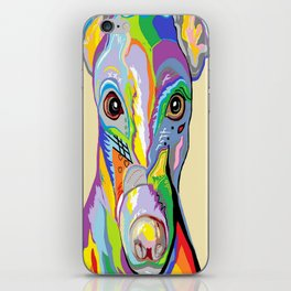 Greyhound Close Up iPhone Skin