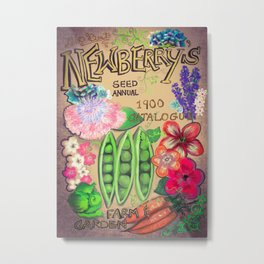 Newberry's Seed Catalogue Metal Print