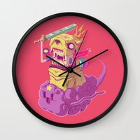 finn Wall Clocks featuring Finn and Jake by Mike Wrobel