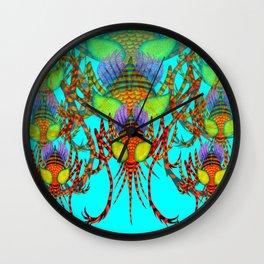 rainbow mosquitoes Wall Clock