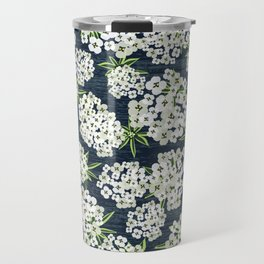 Alyssum - Navy & White Travel Mug