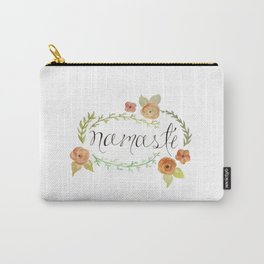 Namaste Floral Watercolor Carry-All Pouch