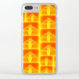 Honey Bees Clear iPhone Case