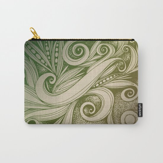 Tangled curves, olive Carry-All Pouch