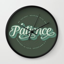 """Patience"" Bible Verse Wall Clock"