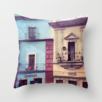 mexican Throw Pillows featuring Mexican houses by OPPhotos - where poetry meets photos