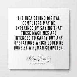 7   | Alan Turing Quotes  | 190716 | Metal Print