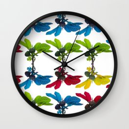The fig tree plantation in the mediterranean land Wall Clock