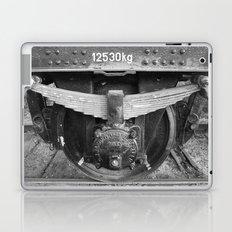 Old train wheel BW Laptop & iPad Skin