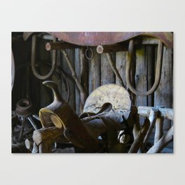 Rustic Saddle Canvas Print