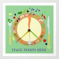 Peace starts here Art Print