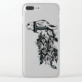 Poetic Llama Clear iPhone Case