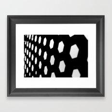 hexagon. Framed Art Print