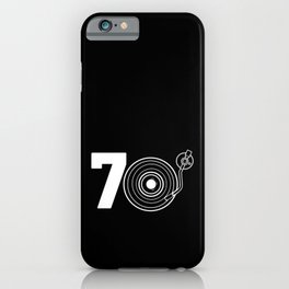 Retro 70th Birthday Gift Vintage Turntable Music iPhone Case