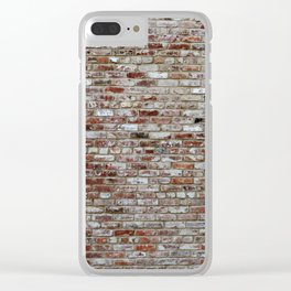 Stone Wall pattern Clear iPhone Case