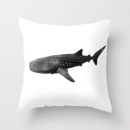 Big Fish, B & W Throw Pillow