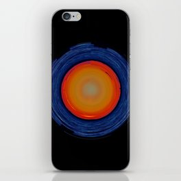 Circular Sunset iPhone Skin