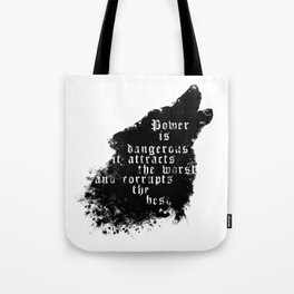 power - is dangerous wolf illustration Tote Bag