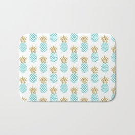 Elegant faux gold pineapple pattern Bath Mat